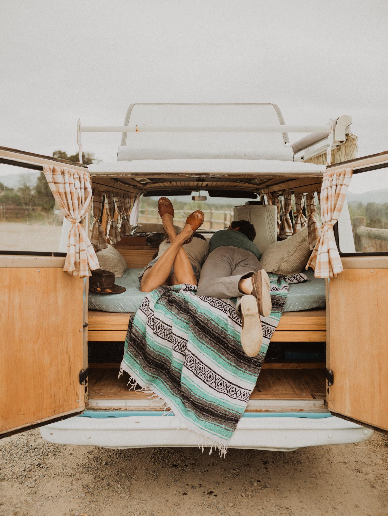 Camper Van Couple Shoot in Ojai by Jenny Collen