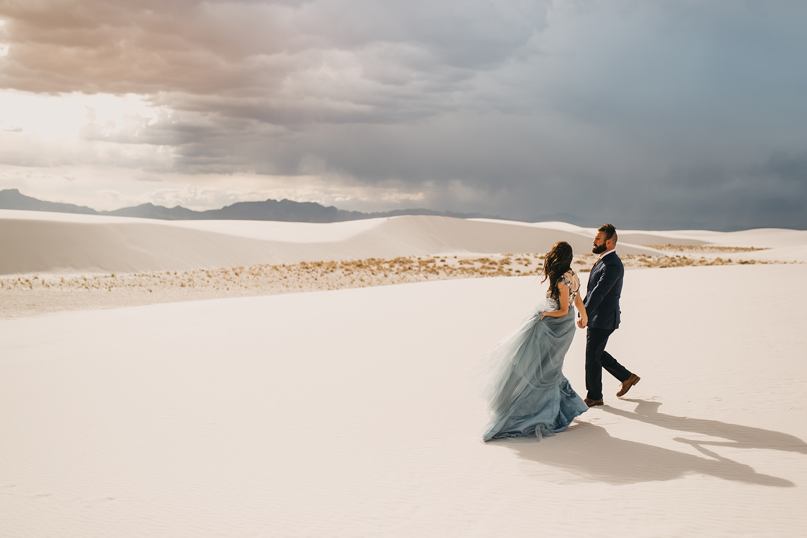 Romantic White Sands Vow Renewal by Rebekah Gonzalez