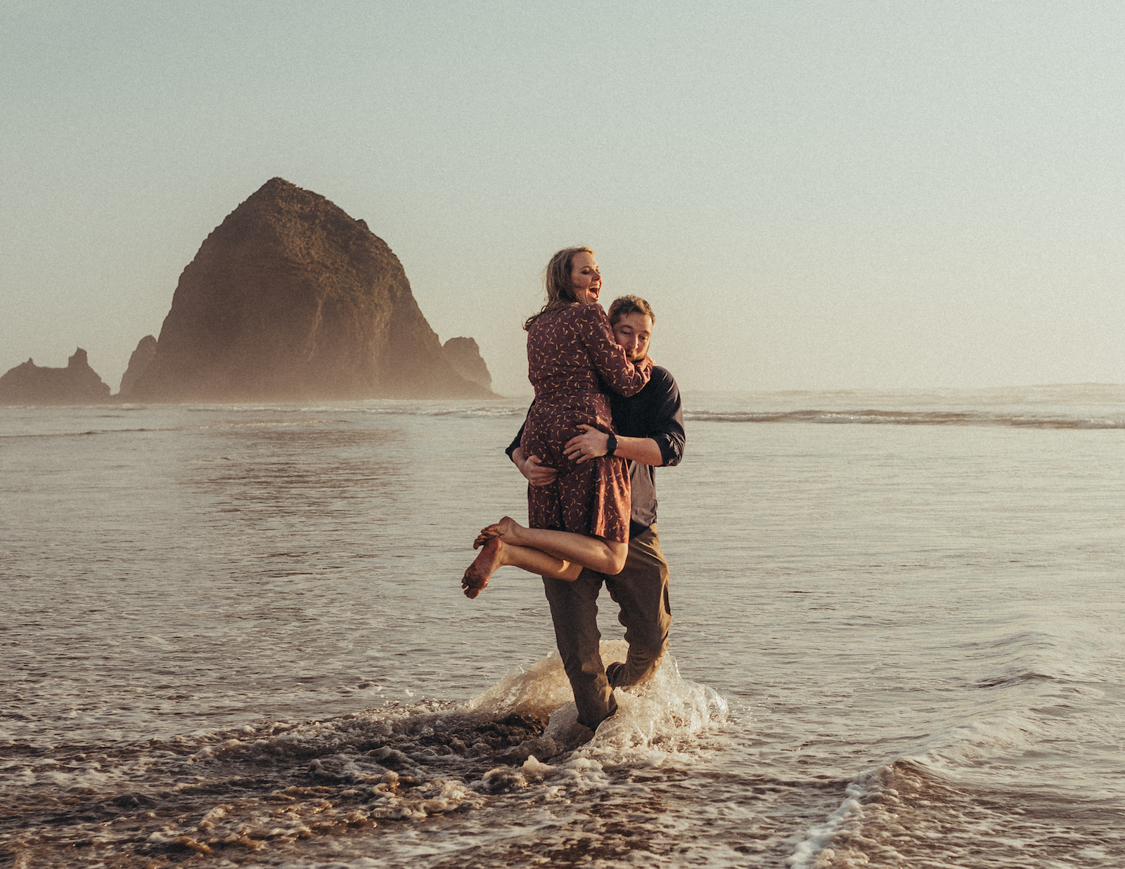 Cannon Beach Engagement by Laurie Wicker