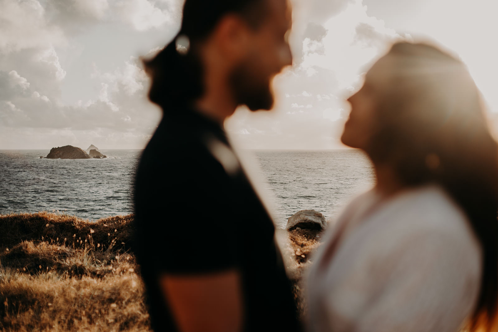 Hiking engagement at the St Maarten Island Coast by Amber Dawn Photography