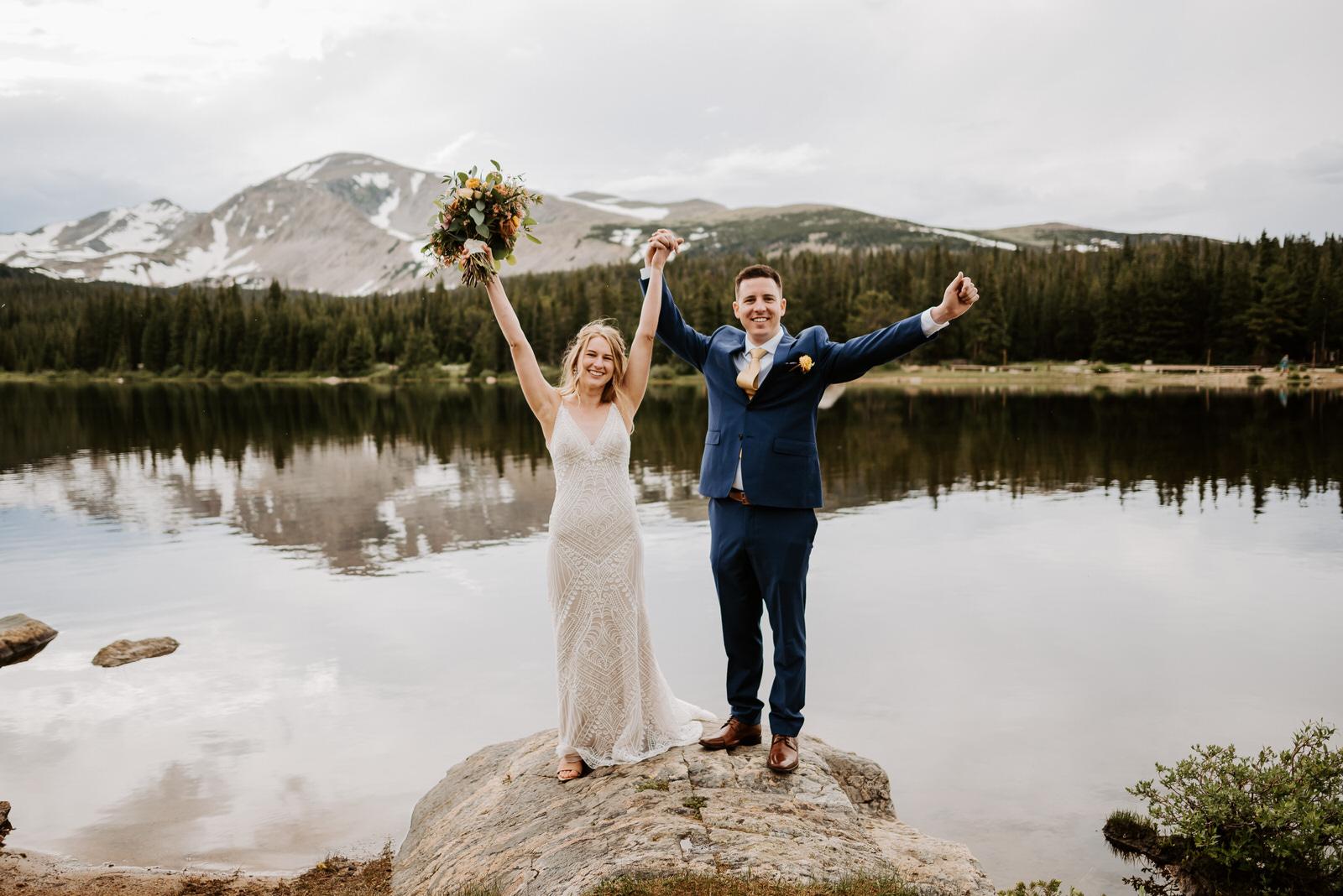 Brainard Lake Intimate Wedding by Kylie Farmer