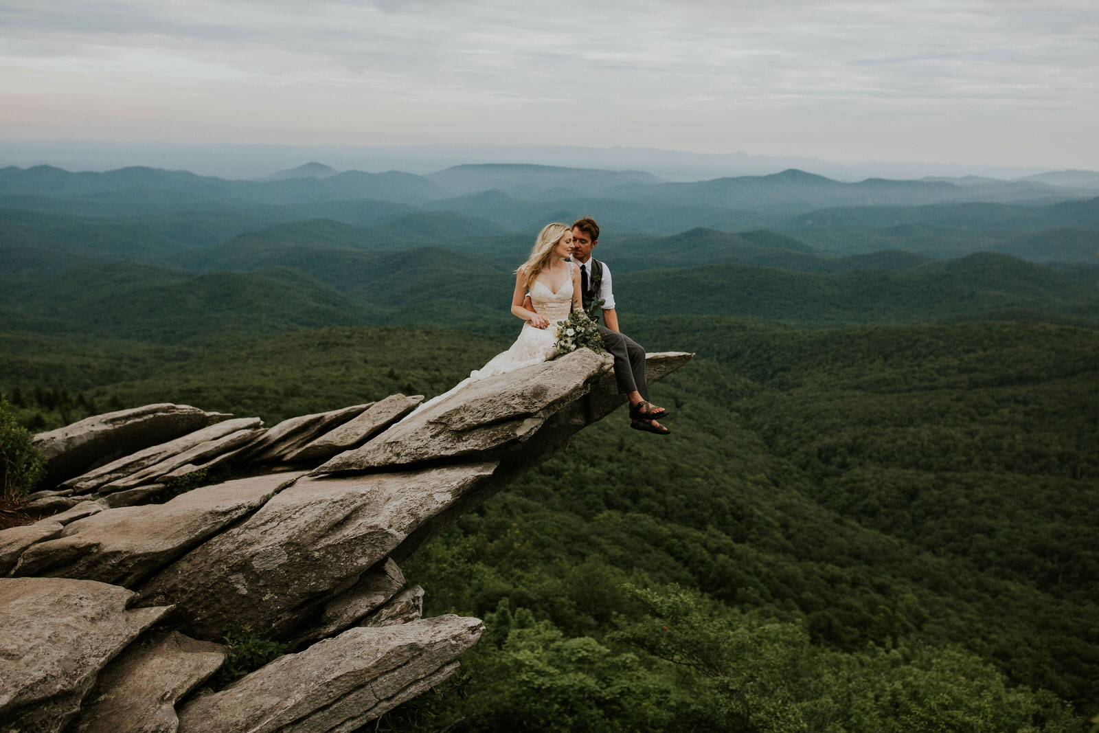 Climbing on the Blue Ridge Parkway by Hanna Wilson