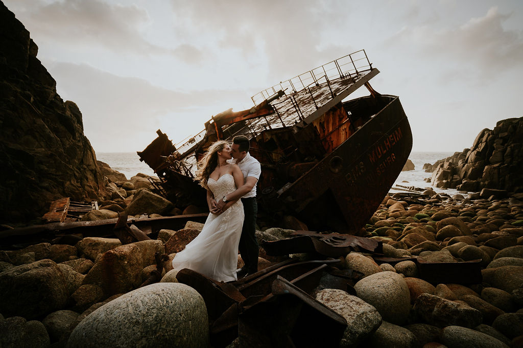 Shipwreck Cornwall by Enchanted Brides & For The Wild At Heart