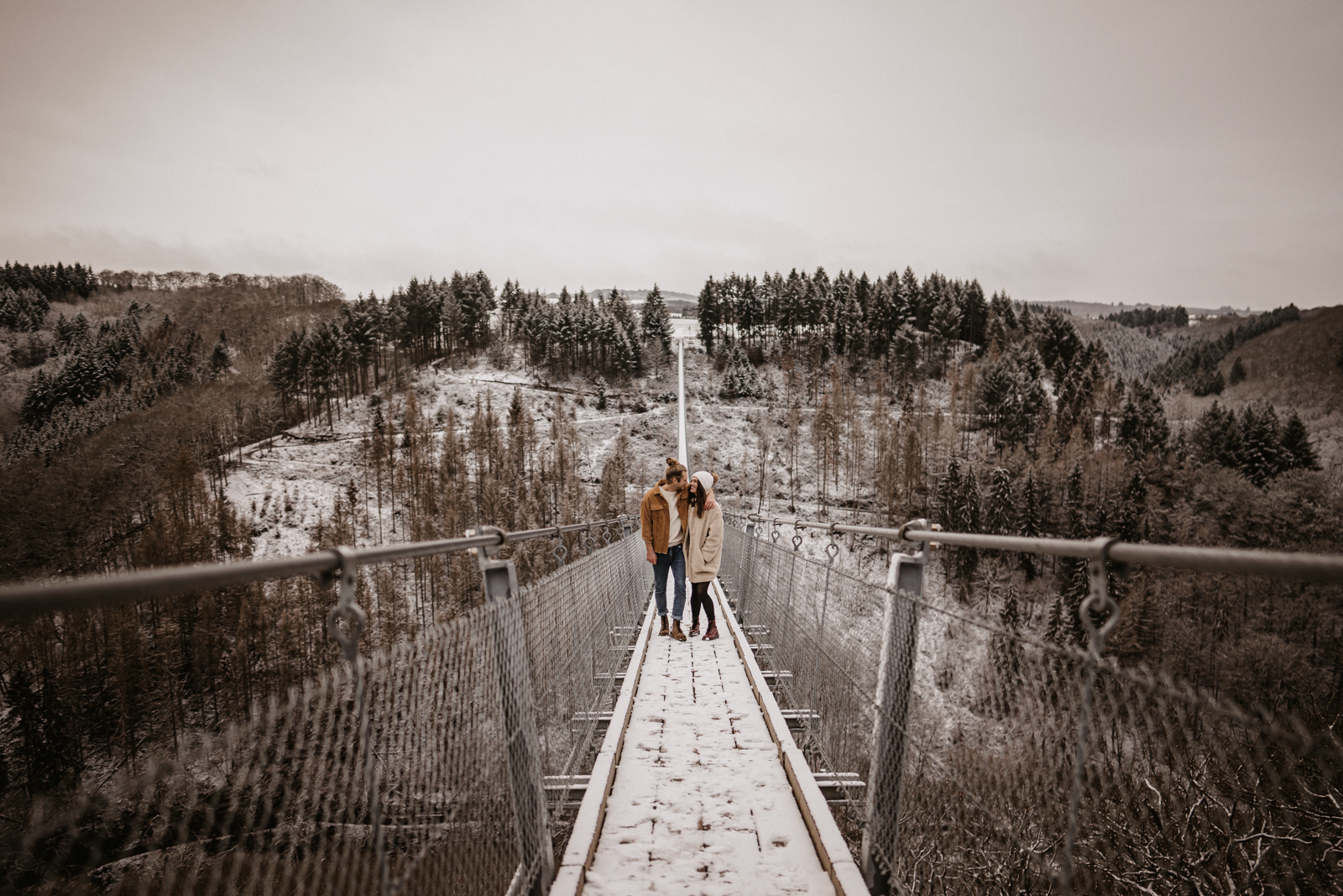 Winter Wonderland Above the Forest by Claudia Klassen