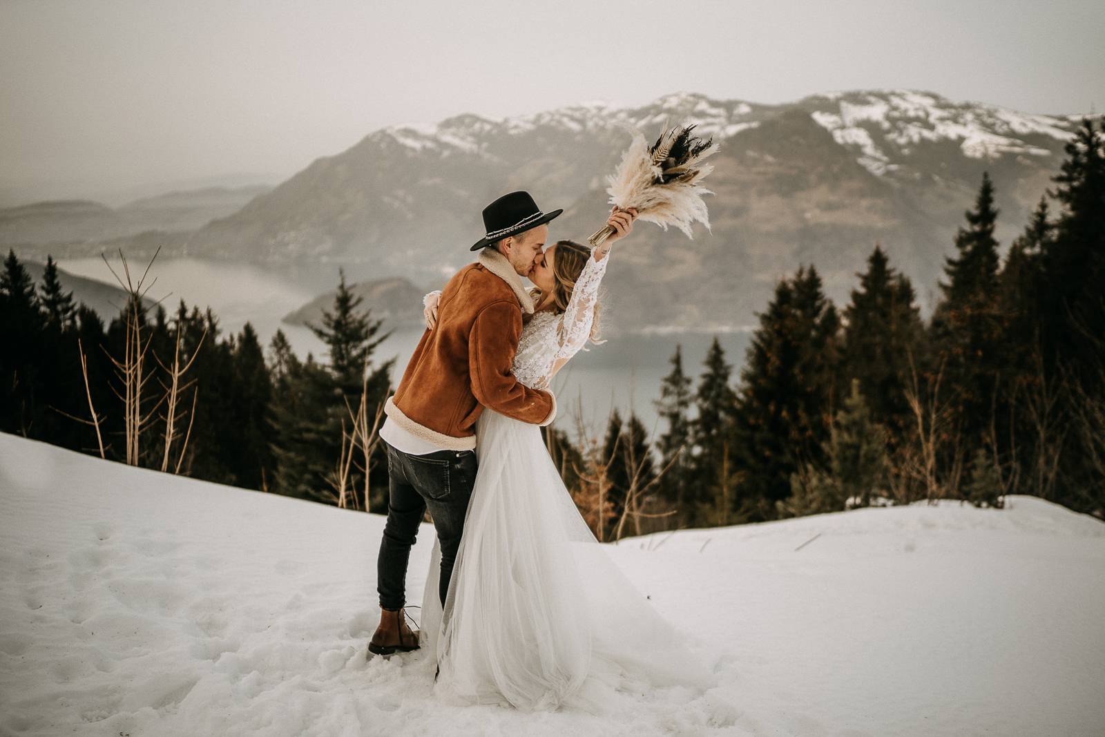 Winter Love in the Swiss Alps by André Schmid
