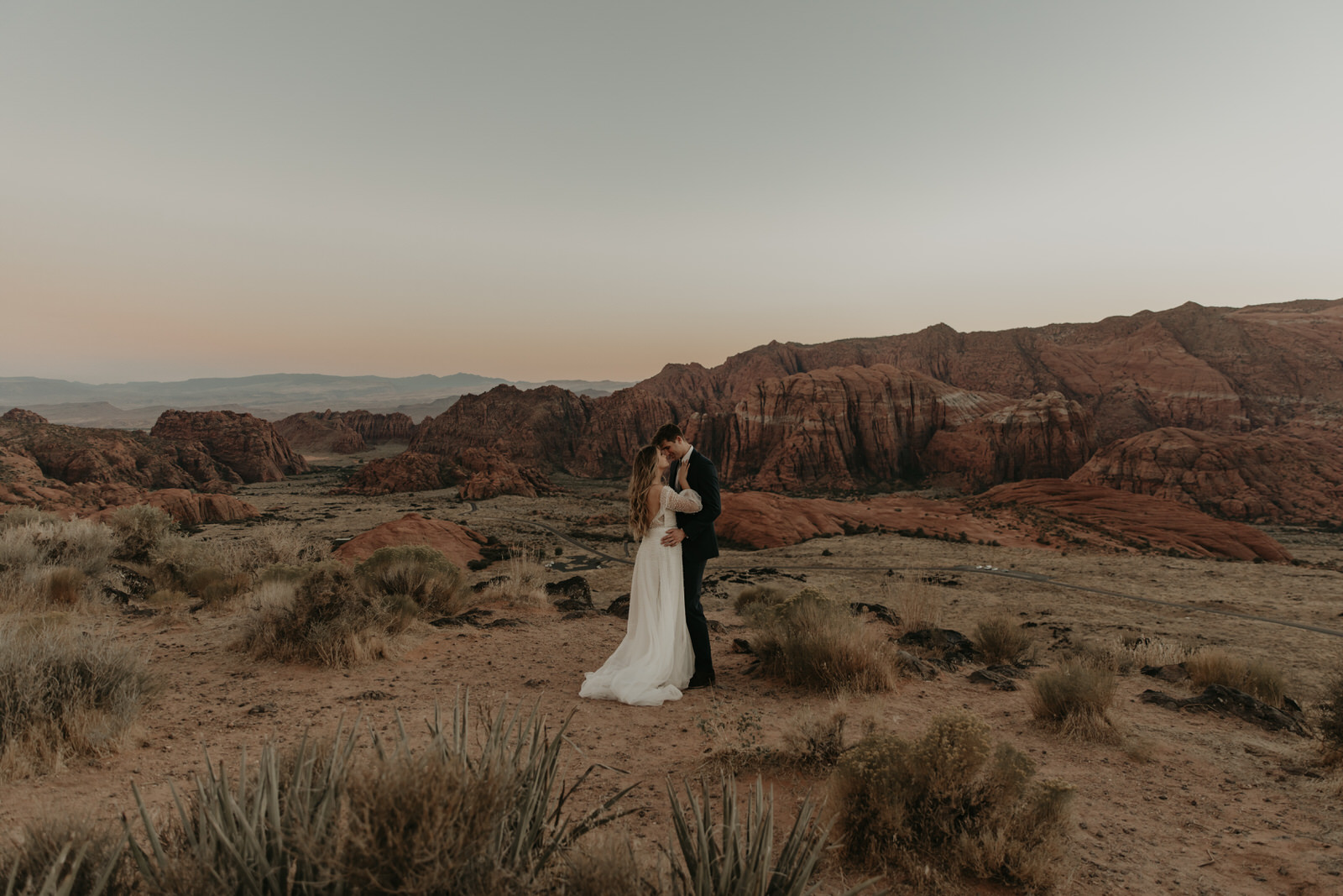 Dreamy Elopement at Snow Canyon by Stephanie Marie Photography