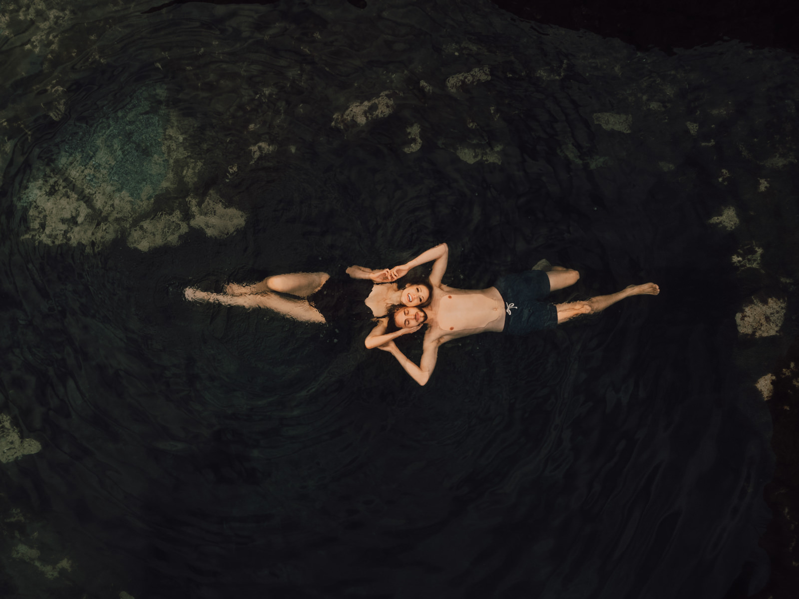 Intimate Hot Springs Couples Session by Riss + Steven Photography